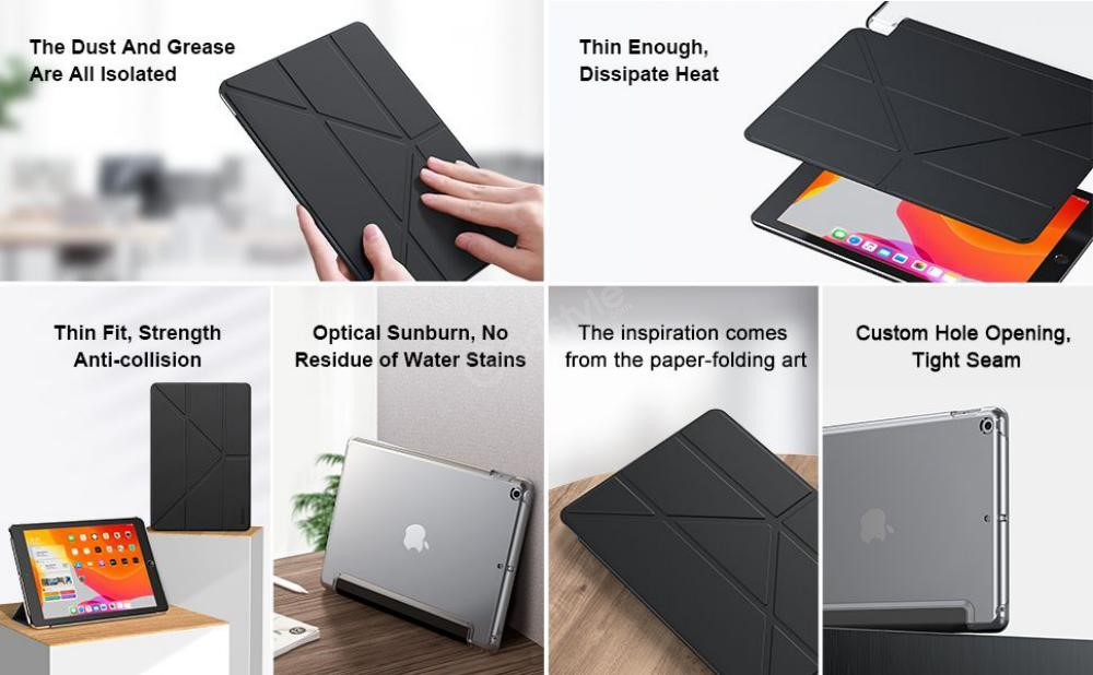 Baseus Jane Y Type Leather Case Auto Sleep Wake Cover For Ipad 10 2 Inch 2019 (5)