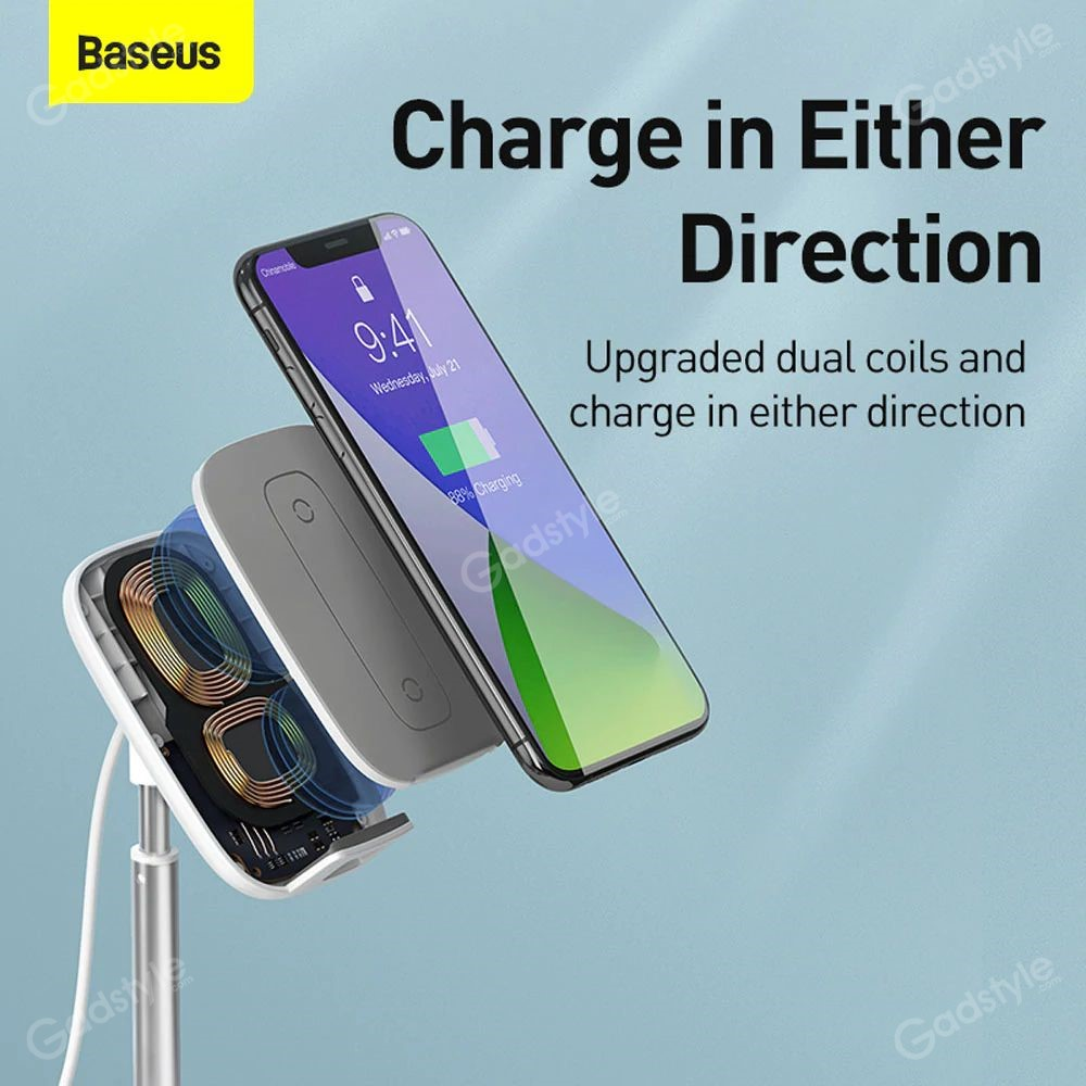 Baseus Literary Youth Desktop Bracket Telescopic Wireless Charging (8)