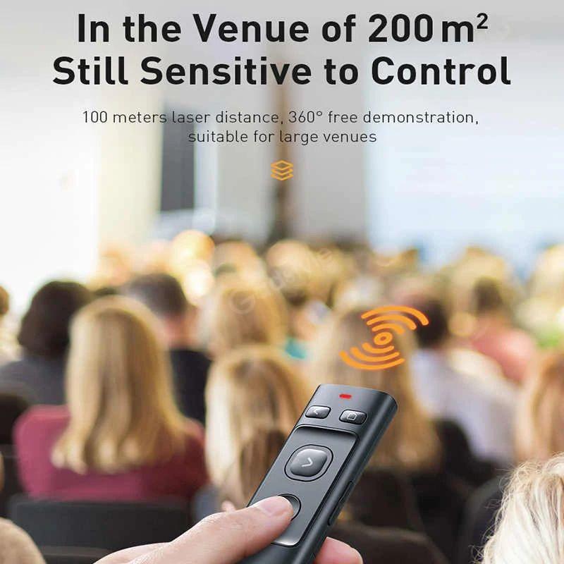 Baseus Orange Dot Bluetooth Wireless Presenter Laser Pointer (1)