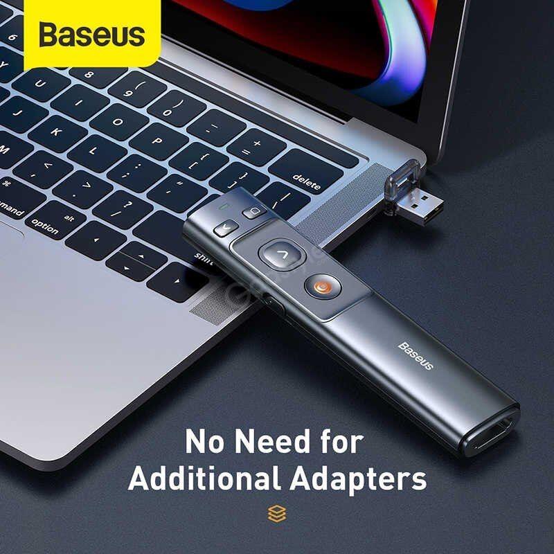 Baseus Orange Dot Bluetooth Wireless Presenter Laser Pointer (3)