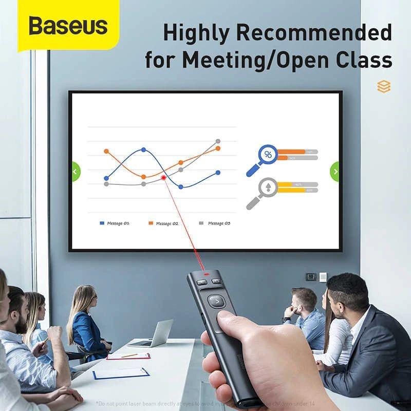 Baseus Orange Dot Bluetooth Wireless Presenter Laser Pointer (7)