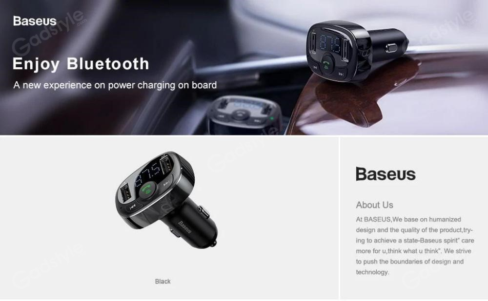 Baseus S 09a T Typed Usb Bluetooth Mp3 Car Charger (1)