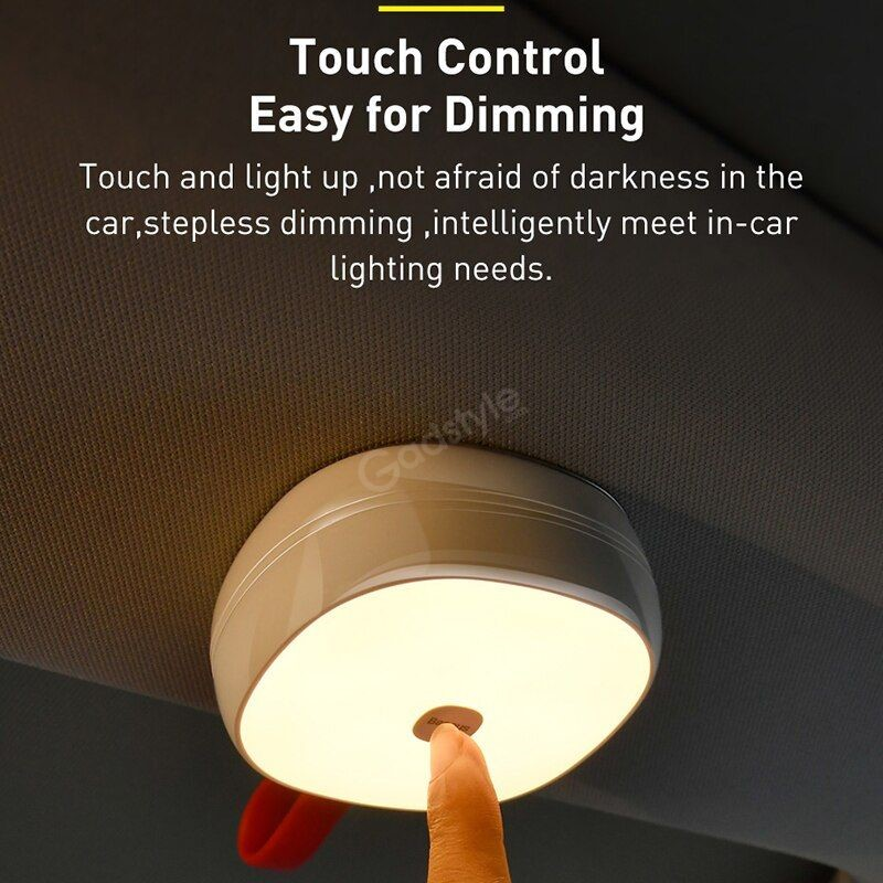 Baseus Solar Reading Light Led Touch Control Car Ceiling Lamp (1)