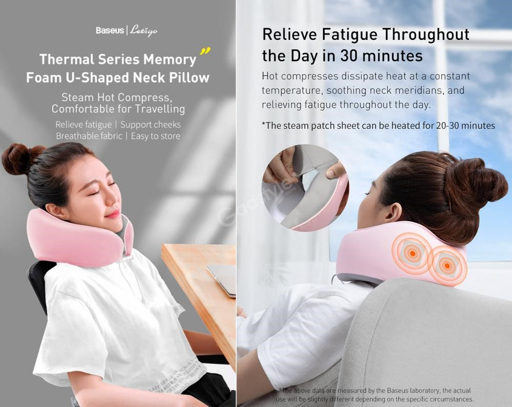 Baseus Thermal Series Memory Foam U Shaped Neck Pillow (3)
