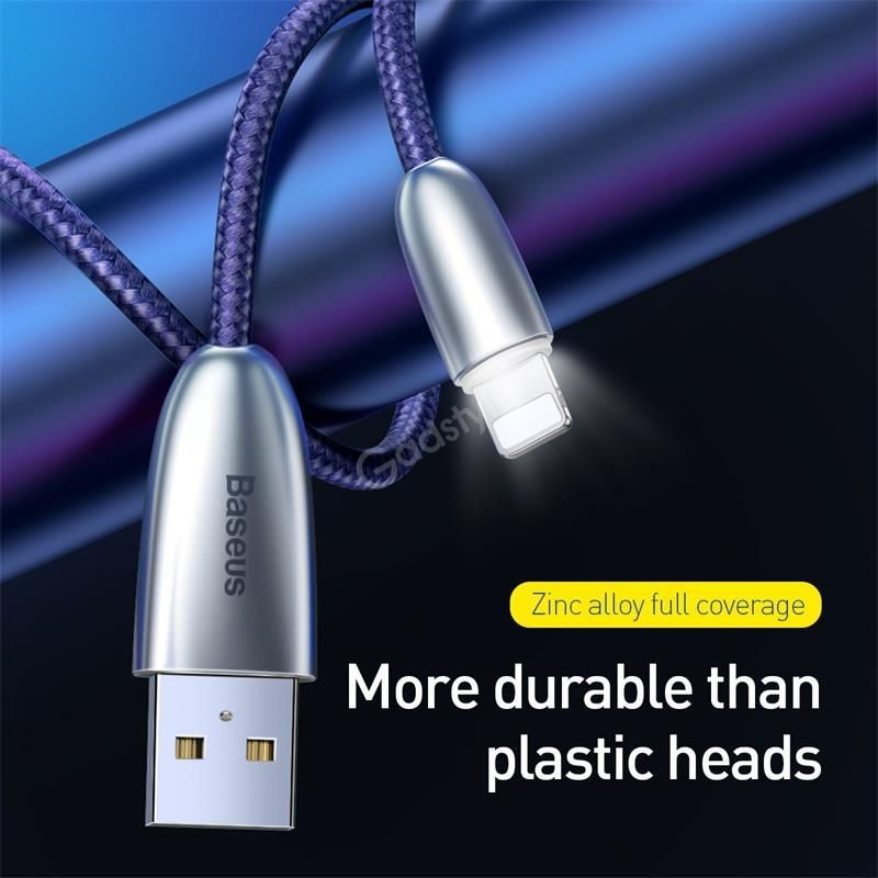 Baseus Torch Series Cable With Indicator Light Usb For Iphone (5)