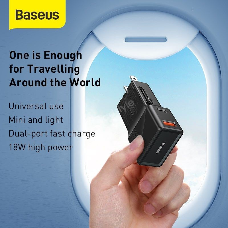 Baseus Universal Conversion Plug Pps Charger Type C Usb 18w Youth Edition (1)