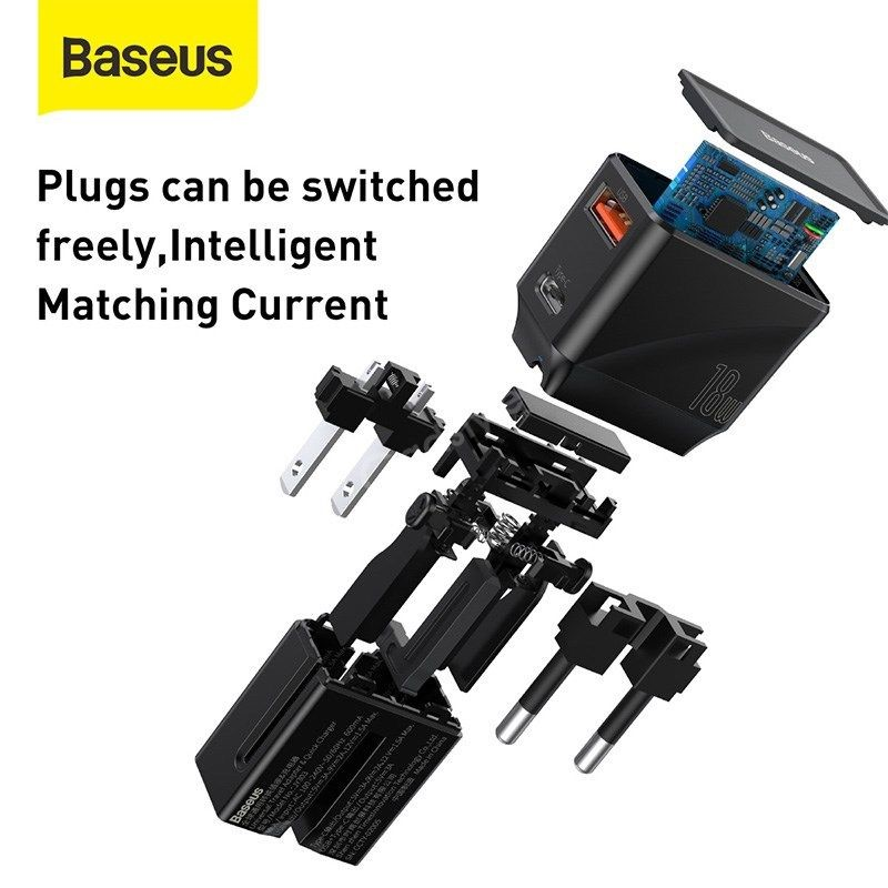 Baseus Universal Conversion Plug Pps Charger Type C Usb 18w Youth Edition (3)