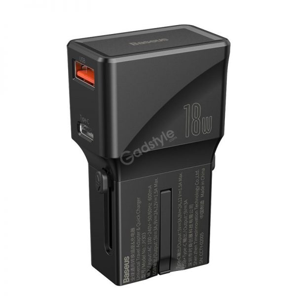Baseus Universal Conversion Plug Pps Charger Type C Usb 18w Youth Edition (4)