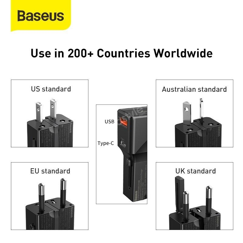 Baseus Universal Conversion Plug Pps Charger Type C Usb 18w Youth Edition (5)