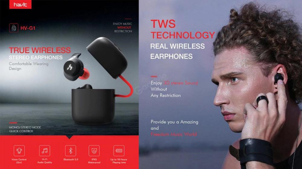 Havit G1 Series Tws True Wireless Earbuds (5)