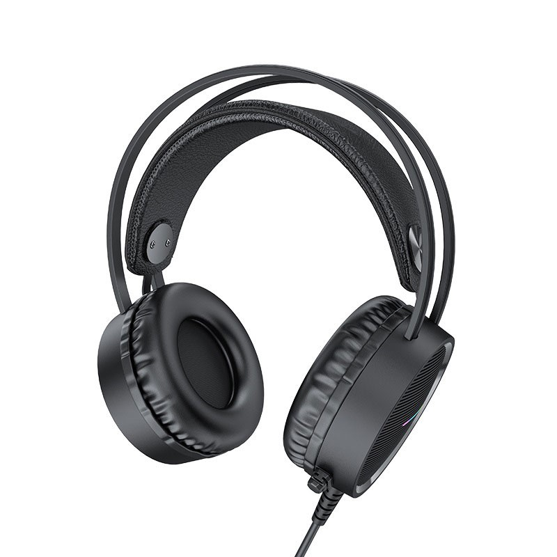 Hoco W100 Portable Wired Gaming Headphone Over Ear Headset With Mic (2)