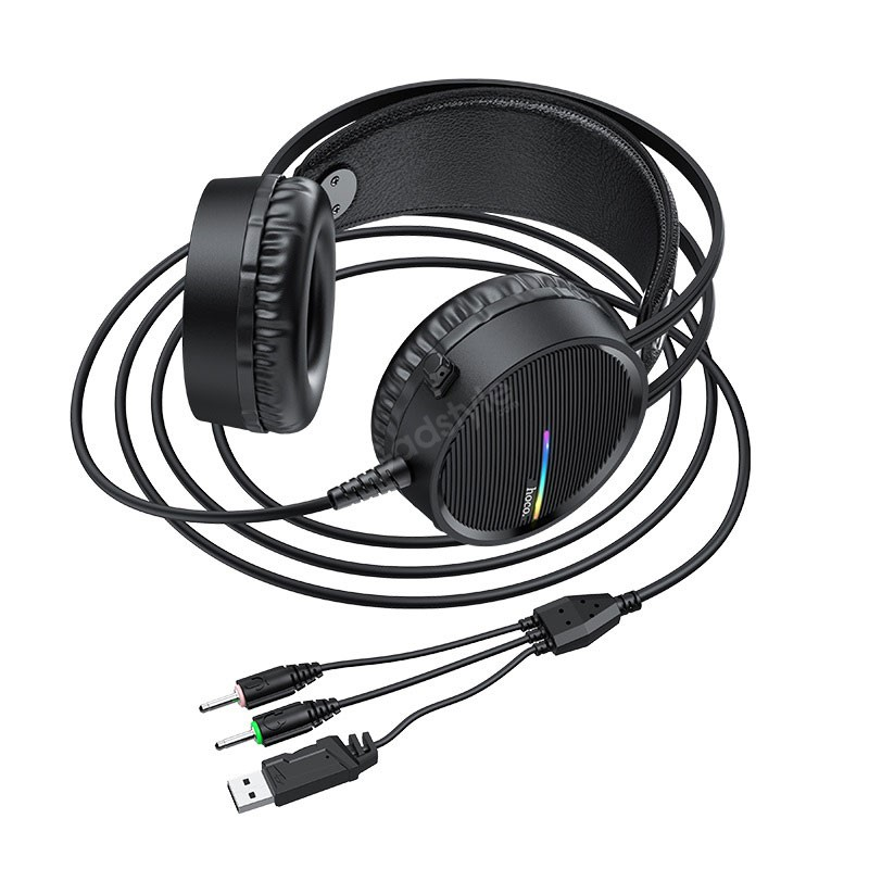 Hoco W100 Portable Wired Gaming Headphone Over Ear Headset With Mic (4)