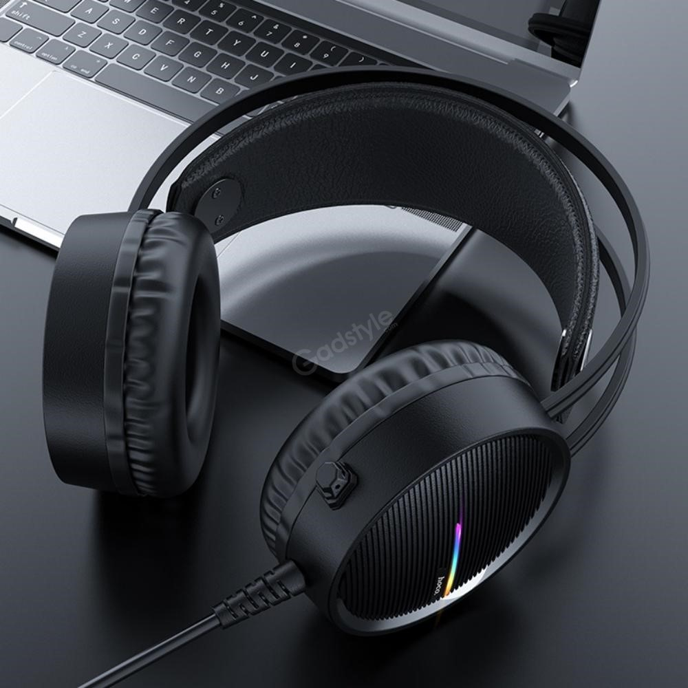 Hoco W100 Portable Wired Gaming Headphone Over Ear Headset With Mic (6)