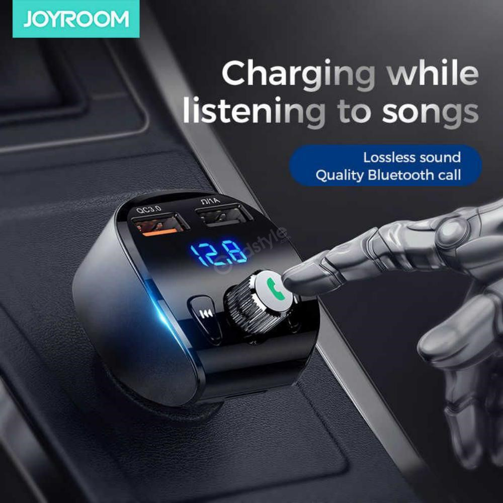 Joyroom 3.1A Fast Charge Dual USB Car Charger with Audio MP3 Player 2