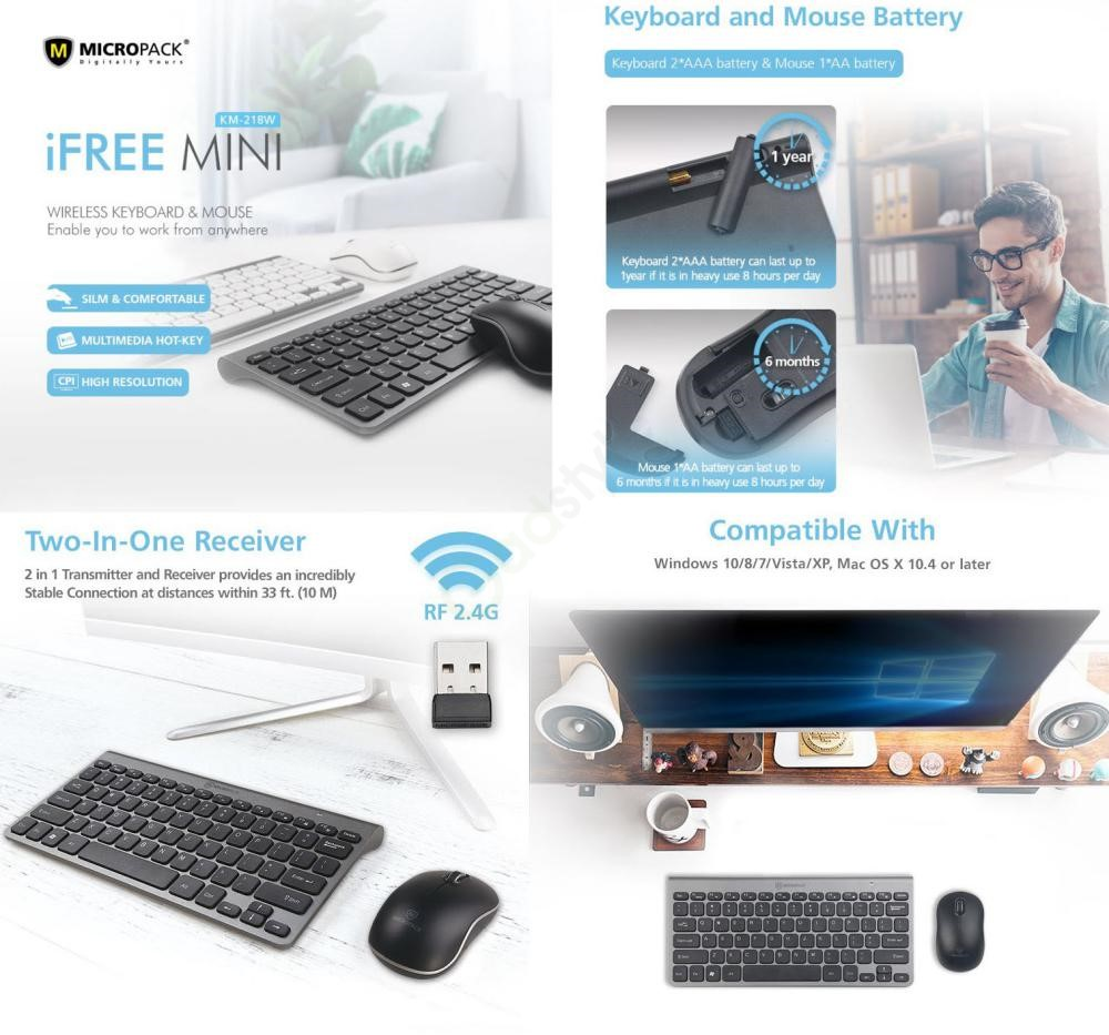 Micropack Km 218w Wireless Keyboard And Mouse Combo (5)