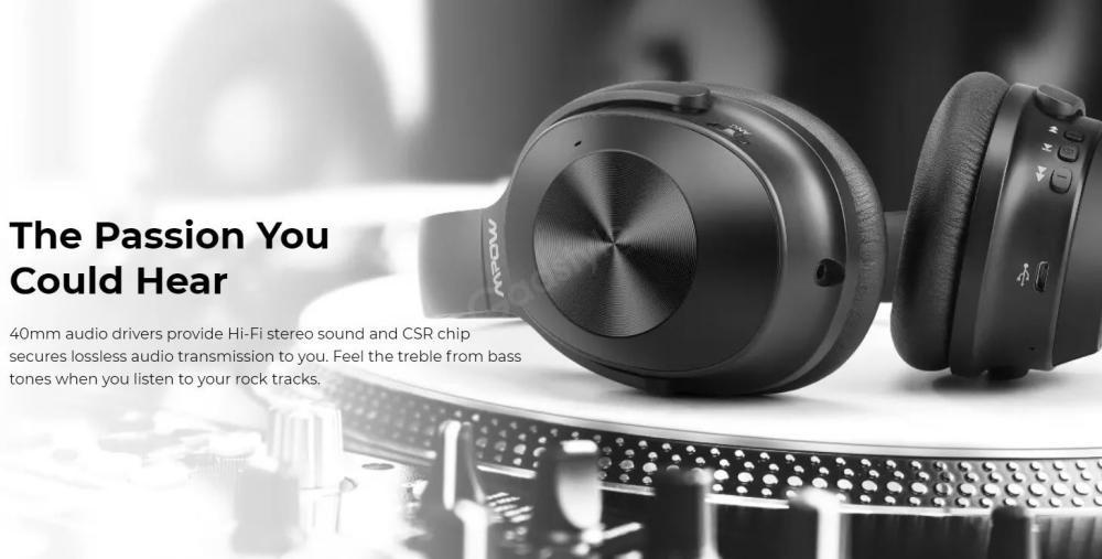 Mpow H12 Hybrid Active Noise Cancelling Headphones (5)