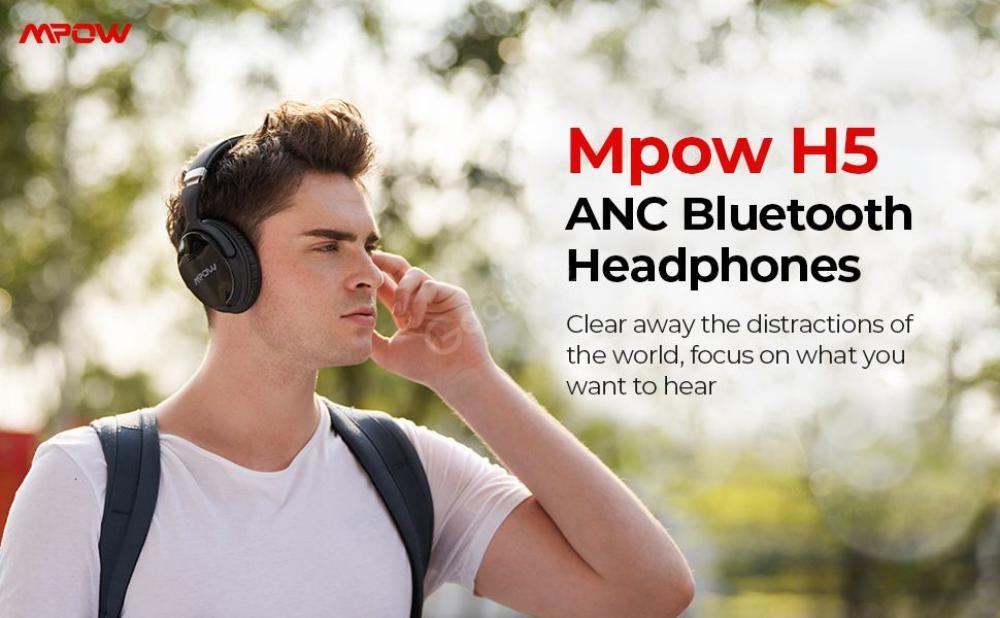 Mpow H5 Active Noise Cancelling Headphones (2)