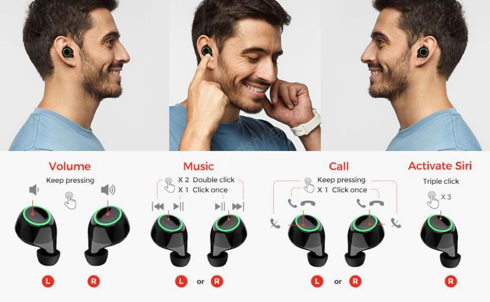 Mpow T6 True Wireless Earbuds (5)