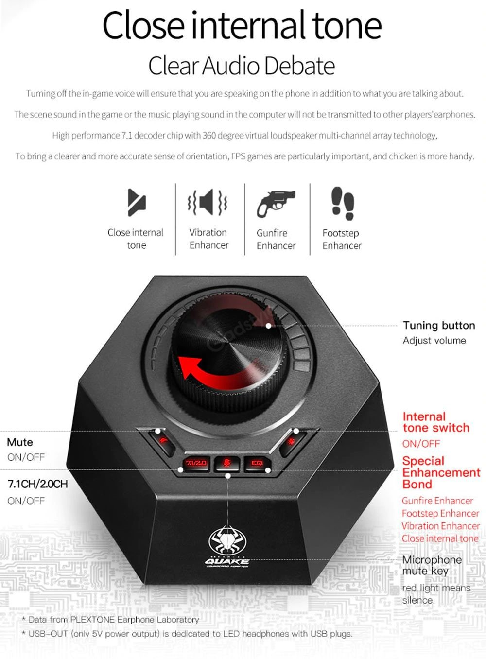Plextone G50 With Gamedsp Quake Vibration Gaming Earphones (5)