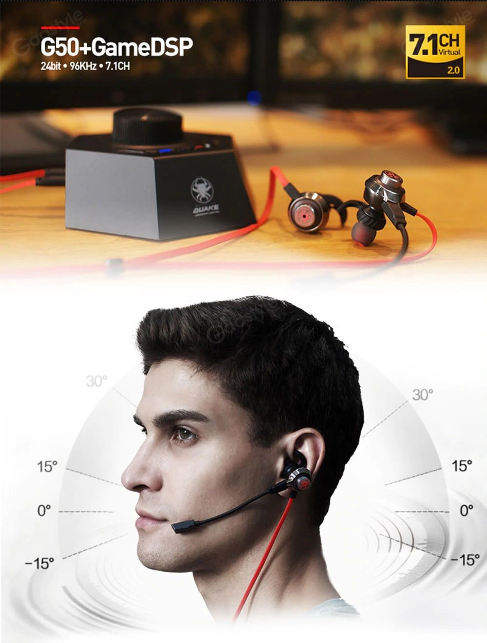 Plextone G50 With Gamedsp Quake Vibration Gaming Earphones (7)