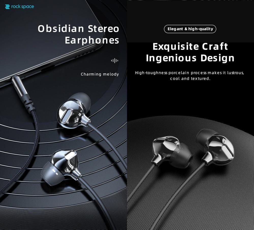 Rock Space Obsidian Stereo Earphones (2)