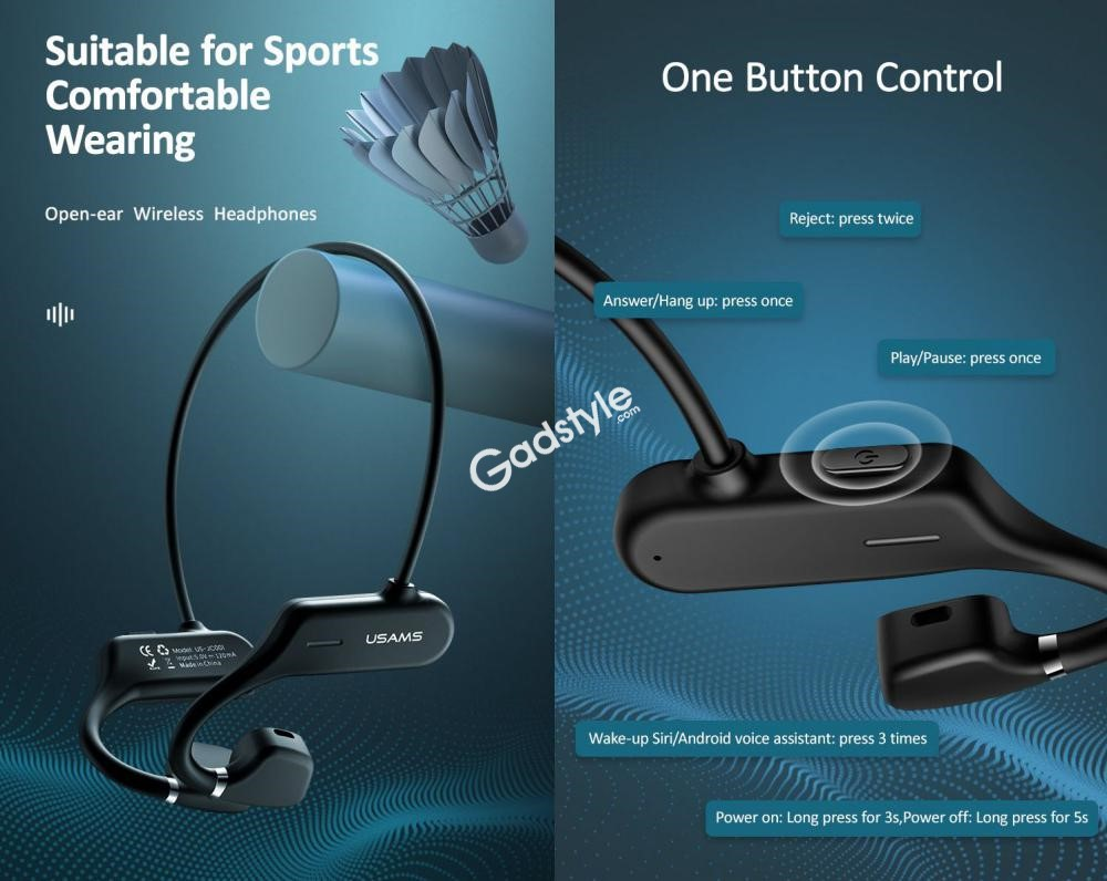 Usams Bone Conduction Wireless Sports Headphones Us Jc001 (3)