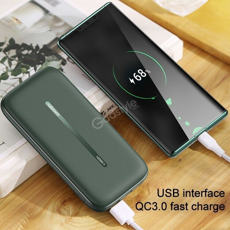 Usams Pb53 Qc3 0pd Wireless Fast Charging Power Bank 10000mah With Suction Cup (5)
