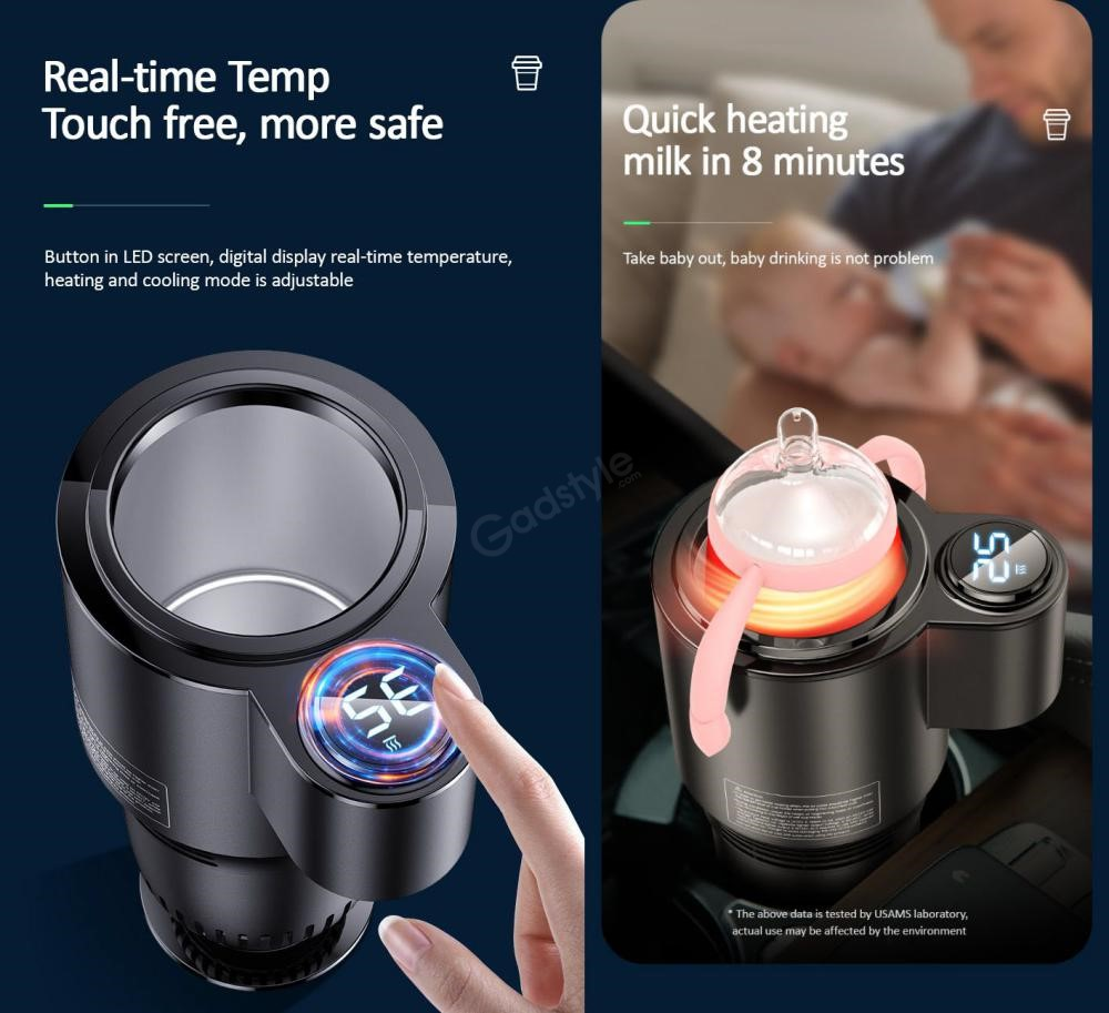 Usams Us Zb160 Car Cooling And Heating Smart Cup (1)