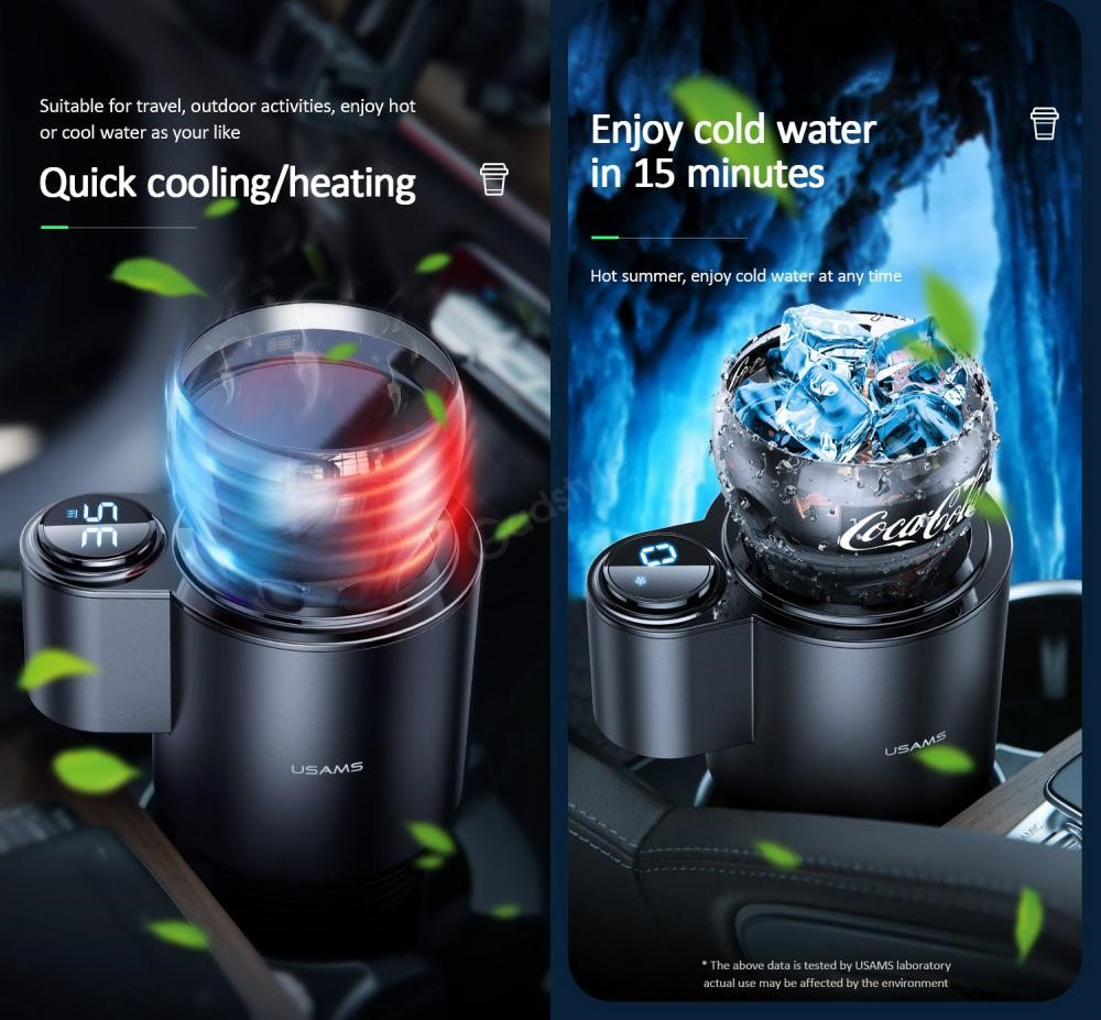 Usams Us Zb160 Car Cooling And Heating Smart Cup (6)