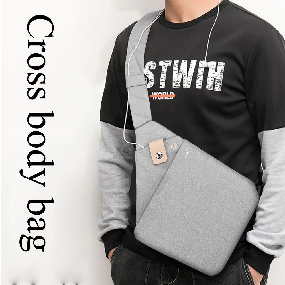 Wiwu Cross Body Bag Water Proof Chest Travel Anti Theft Shoulder Bags (1)