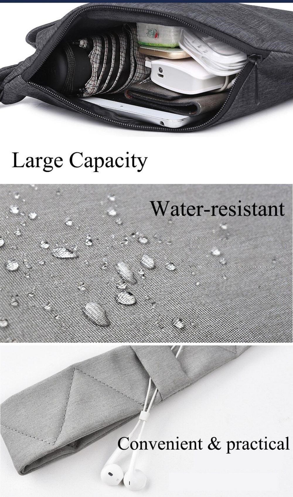 Wiwu Cross Body Bag Water Proof Chest Travel Anti Theft Shoulder Bags (8)