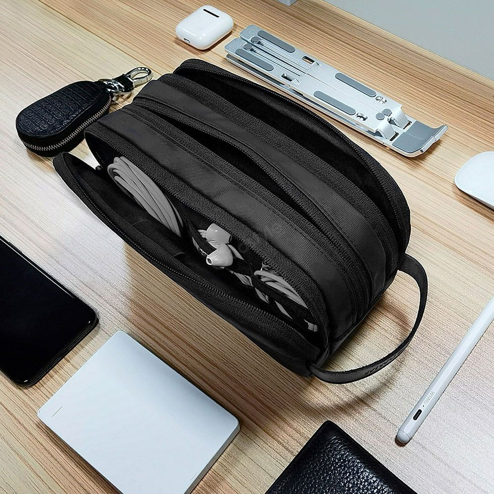 Wiwu Electronic Storage Bag Portable Design Travelling Organize Carry Pouch (3)