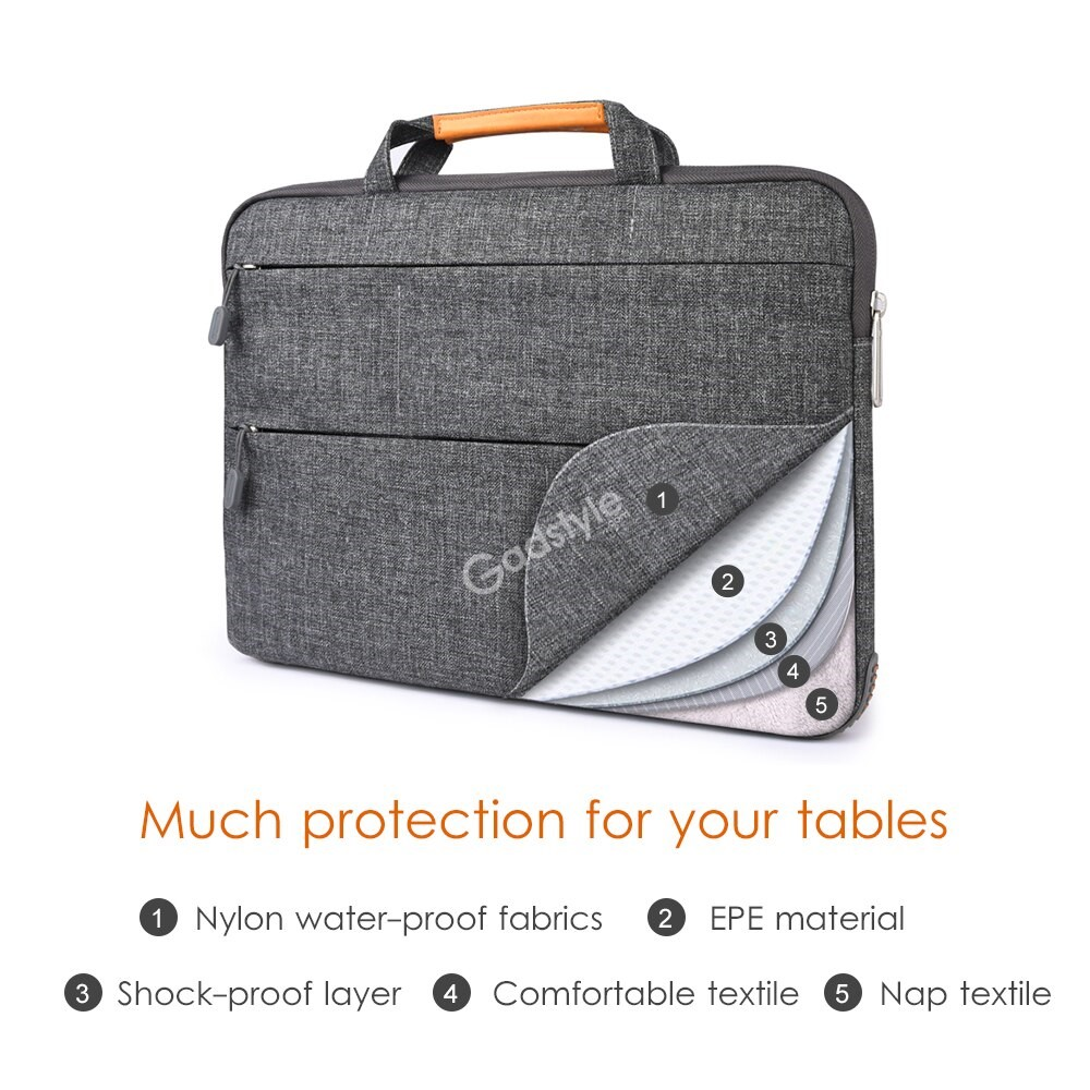 Wiwu Notebook Bag With Stand Function Multi Pockets Waterproof Nylon Laptop Bag (2)