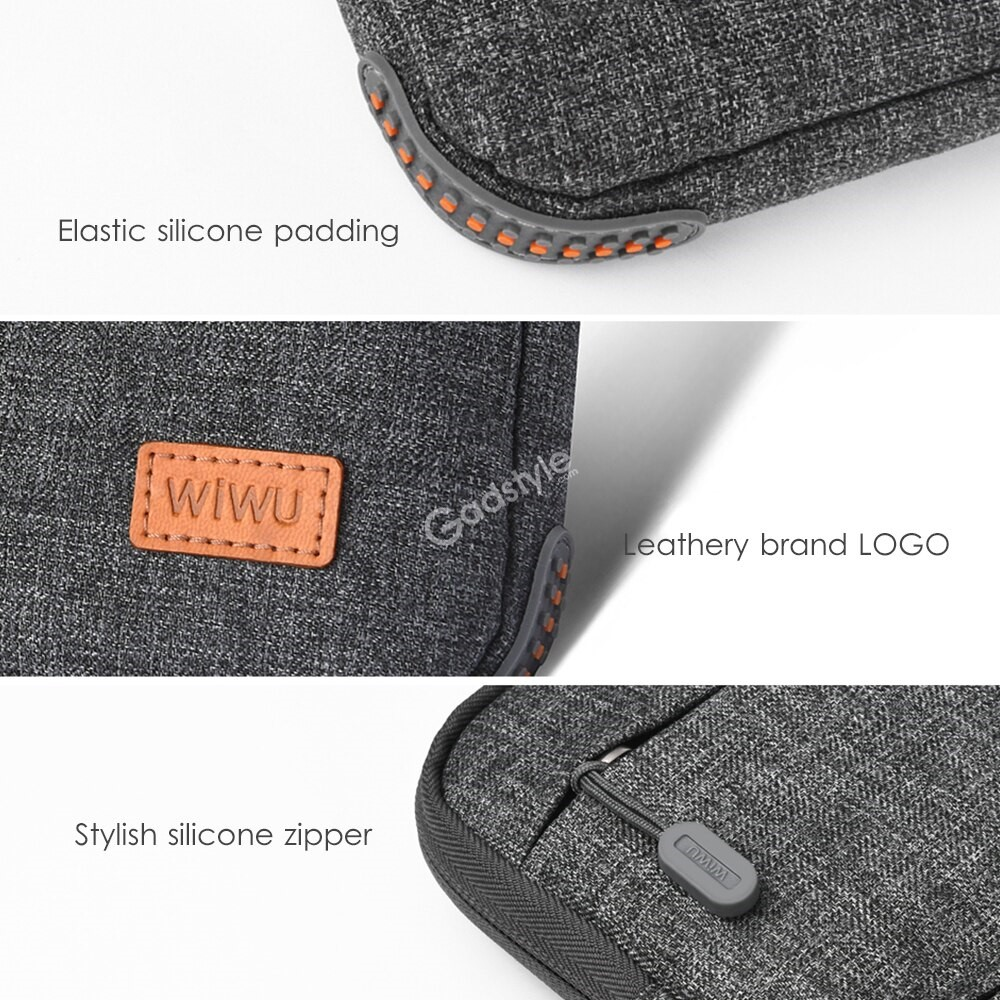 Wiwu Notebook Bag With Stand Function Multi Pockets Waterproof Nylon Laptop Bag (3)