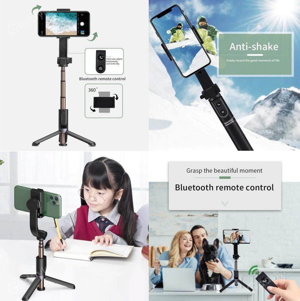 Wiwu Tgs 301 Tripod Gimbal Bluetooth Selfie Stick (1)