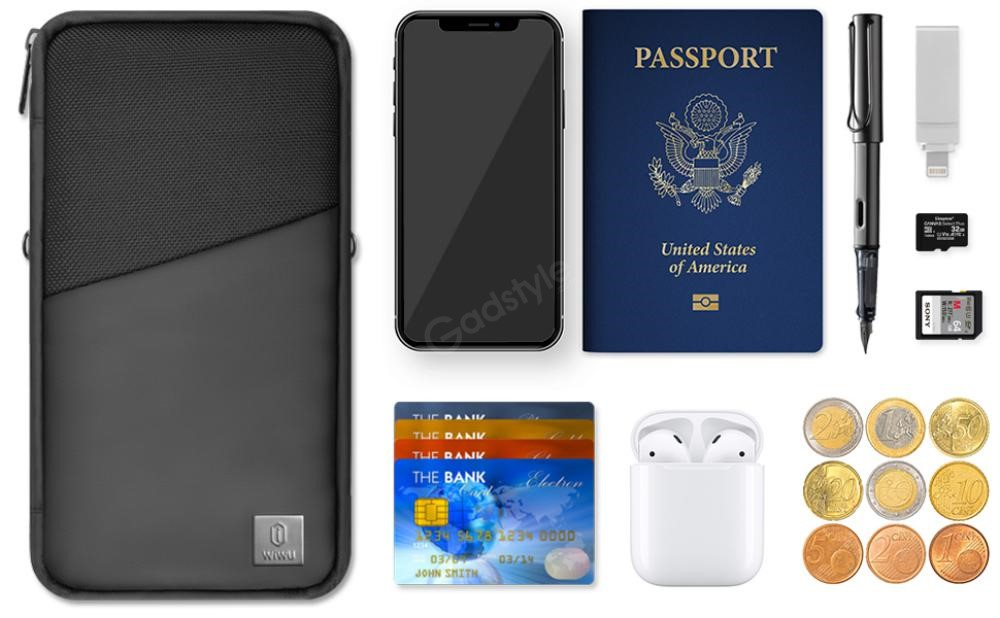 Wiwu Travel Mate Passport Holder Travel Document Organizer Bag (2)