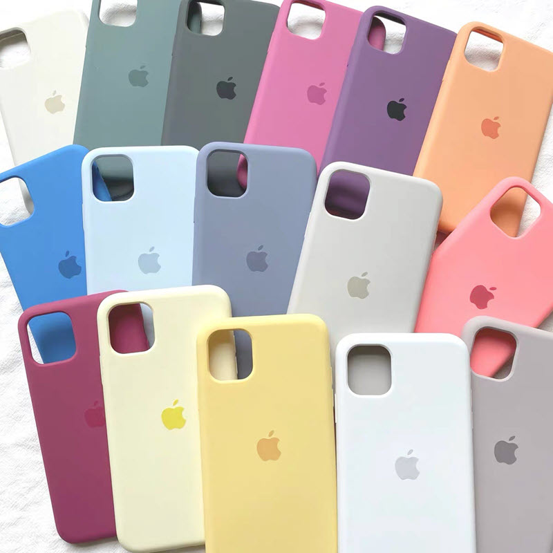 Liquid Silicone Case For Apple Iphone 12 11 Pro Max X Xs Xr Xsmax Case Phone