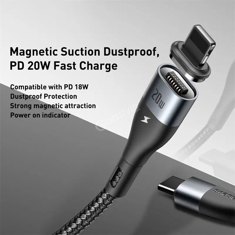 Baseus 20w Lighting Magnetic Safe Fast Charging Iphone Cable (2)