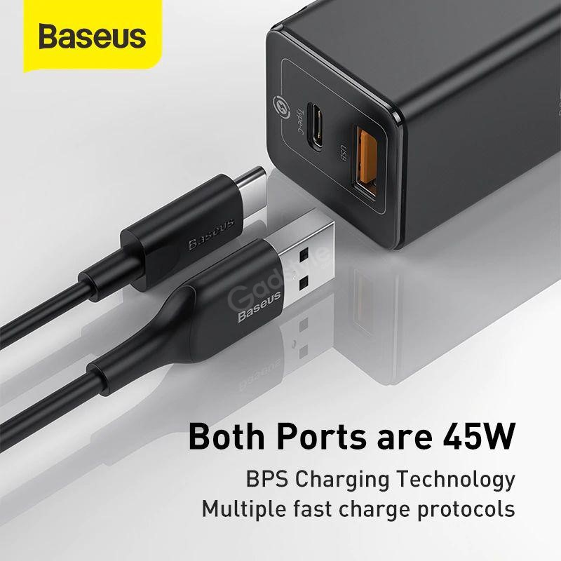 Baseus 45w Gan Mini Quick Charger With Type C Cable (5)