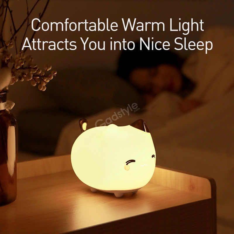 Baseus Cute Led Night Light Soft Silicone Touch Sensor Night (2)