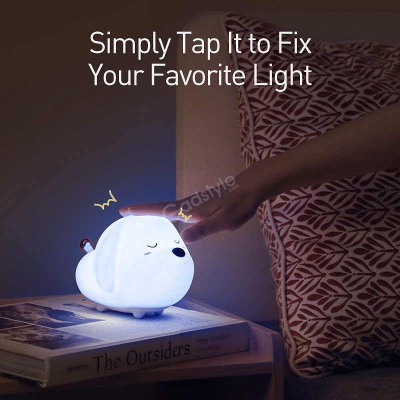 Baseus Cute Led Night Light Soft Silicone Touch Sensor Night (4)