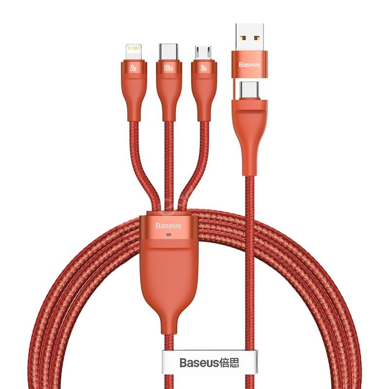 Baseus Flash Series Two For Three Fast Charging Data Cable (1)