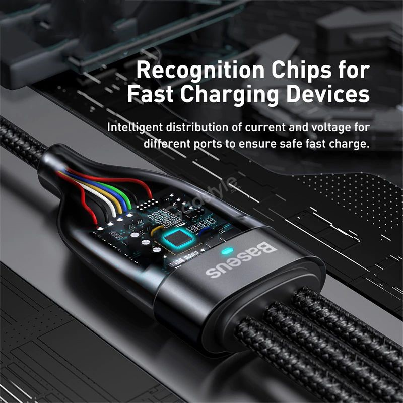 Baseus Flash Series Two For Three Fast Charging Data Cable (5)