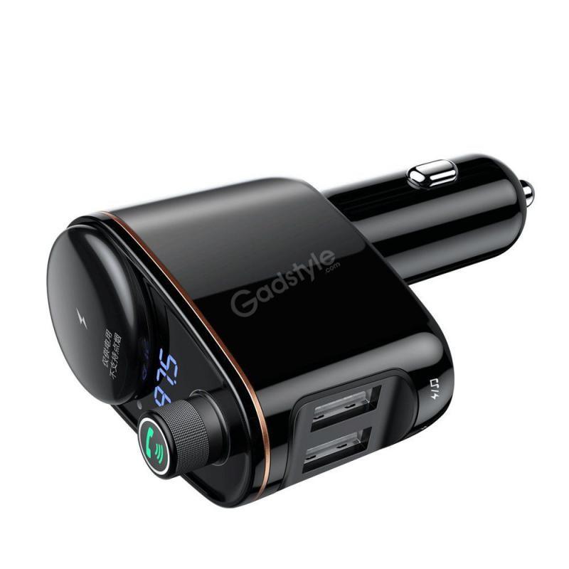Baseus Locomotive Bluetooth Fm Transmitter Mp3 Car Charger 2x Usb (5)