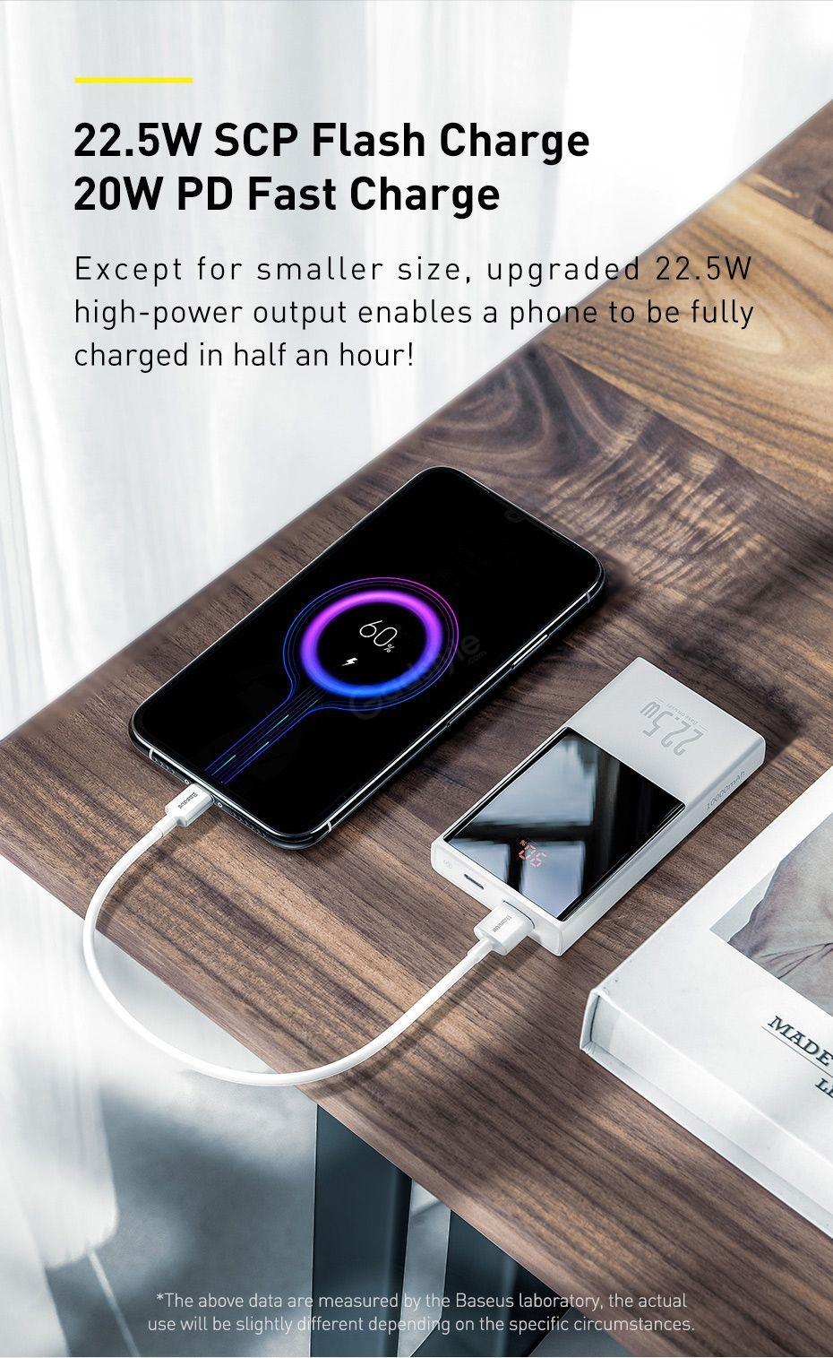 Baseus Super Mini Digital Display 10000mah Power Bank 22 5w (1)