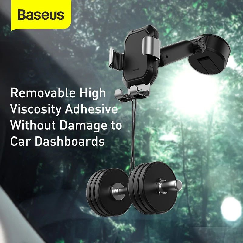Baseus Tank Gravity Car Mount Holder With Suction Base (1)