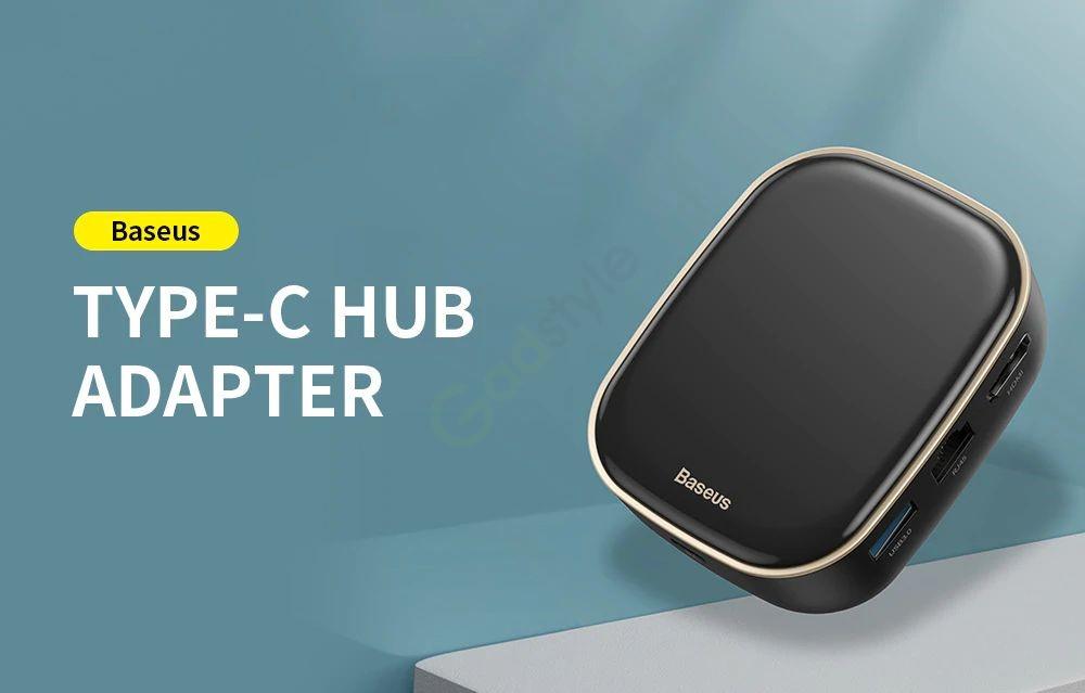 Baseus Type C Hub Adapter Ac Multifunctional Charger (6)