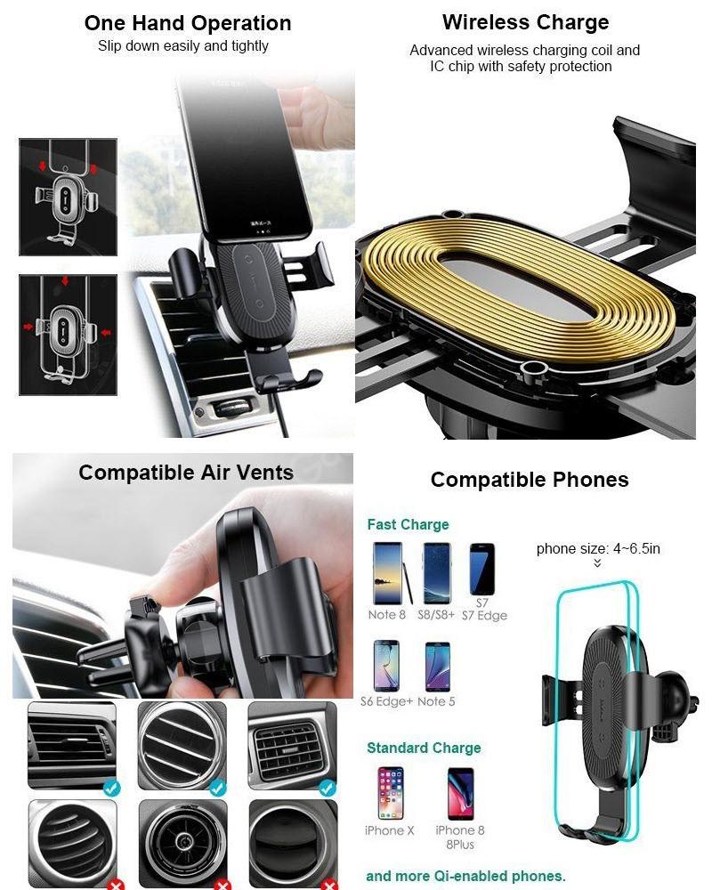 Baseus Wireless Charger Gravity Car Mount (1)