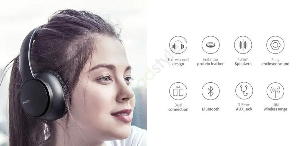 Havit I60 Wireless Bluetooth Headphone 40mm Dynamic Driver (2)