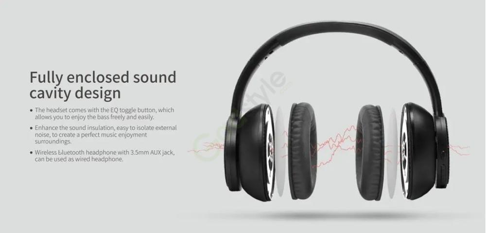 Havit I60 Wireless Bluetooth Headphone 40mm Dynamic Driver (3)
